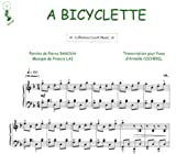 Partition : A Bicyclette - Piano et Paroles - Feuillet