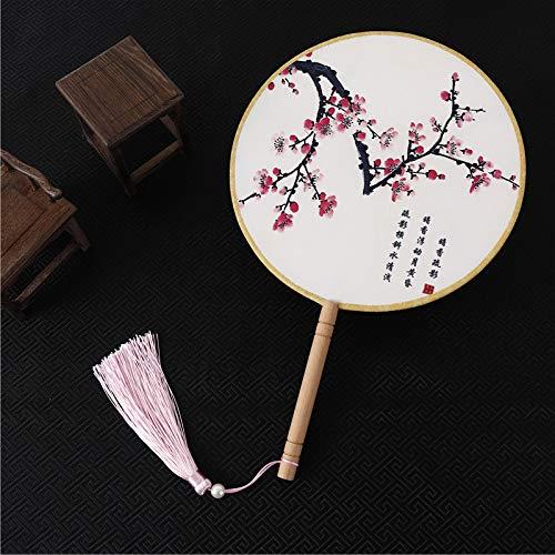 MtniAY Home Runder chinesischer Alter Handfan-klassischer Palast-Paddel-Handfan