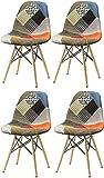 Ispirata alla sedia DSW di Charles & Ray Eames, uno dei modelli più popolari del design d'avanguardia del XX secolo. La struttura delle gambe è ispirata alla torre Eiffel. Schienale ergonomico molto confortevole. Dimensioni: 82 x 46 x 42 ...