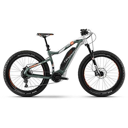 Haibike E-Bike XDURO FatSix 8.0 500Wh 11-G NX 18 HB YWC Olive/Silver/orange matt Medium