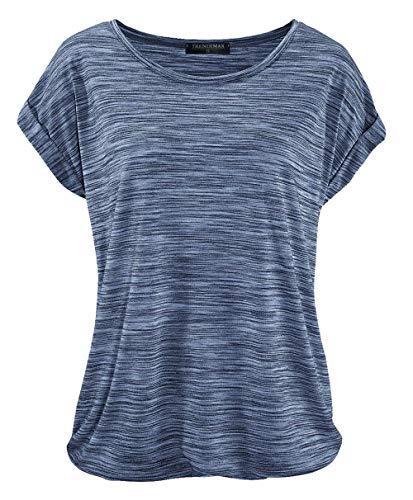irt Kurzarm Sommer Shirt Lose Strech Bluse Tops Causal Oberteil Basic Tee ()