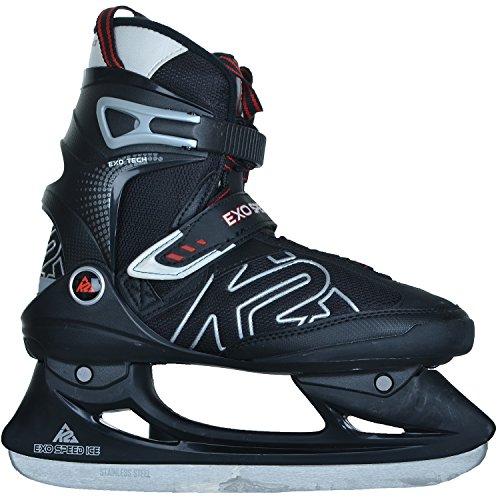 K2 Herren Schlittschuhe Ice Skates Exo Speed Ice Black/red Softboot, Schuhgröße:36.5