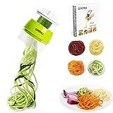 Opard Spiralschneider Hand für Gemüsespaghetti, 4 in1 Gemüseschneider, Gemüse Spiralschneider Gemüsehobel für Karotte, Gurke, Kartoffel, Kürbis, Zucchini