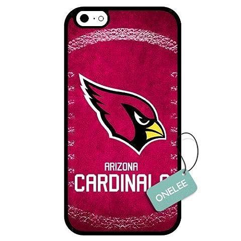 onelee (TM)–personnalisé NFL Arizona Cardinals équipe Logo Design Coque en TPU pour Apple iPhone 6–Noir 01