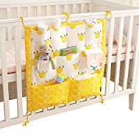 Vine Baby Nursery Organizer-Hanging Organizer for Bed - Diaper Organizer with Large Pockets - Ample Storage Space Holds Diapers & Wipes, Creams & Lotions - Convenient Access to All Baby Changing