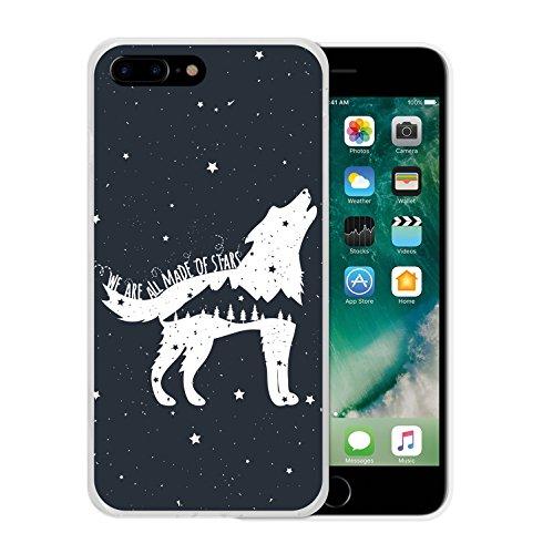 iPhone 7 Plus Hülle, WoowCase Handyhülle Silikon für [ iPhone 7 Plus ] Astronaut Herz - I Love To the Moon And Back Handytasche Handy Cover Case Schutzhülle Flexible TPU - Transparent Housse Gel iPhone 7 Plus Transparent D0529
