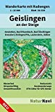 Geislingen an der Steige: Wanderkarte mit Radwegen, Blatt 56-539, 1 : 25 000, Amstetten, Bad Ditzenbach, Bad Überkingen Donzdorf, Eislingen/Fils, ... (NaturNavi Wanderkarte mit Radwegen 1:25 000)