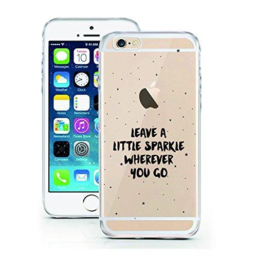 iPhone 7 Hülle von licaso® für das Apple iPhone 7 aus TPU Silikon Muster Attitude is Everything XOXO Style Fashion Design ultra-dünn schützt Dein iPhone 7 & ist stylisch Schutzhülle Bumper in einem (i Leave a little sparkle wherever you go