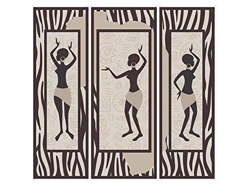 GRAZDesign Klebefolie Afrika - Türaufkleber Afrikanische Frauen - Wandtattoo Poster selbstklebend / 53x50cm / 721717_50