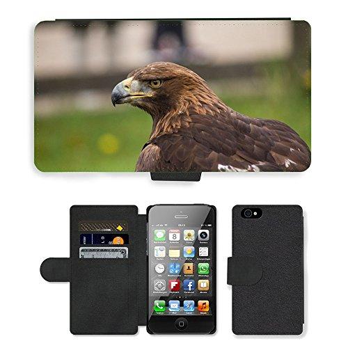 Just Mobile pour Hot Style Téléphone portable étui portefeuille en cuir PU avec fente pour carte//m00138184Aigle ave Animal Oiseau Peak plumes//Apple iPhone 44S 4G