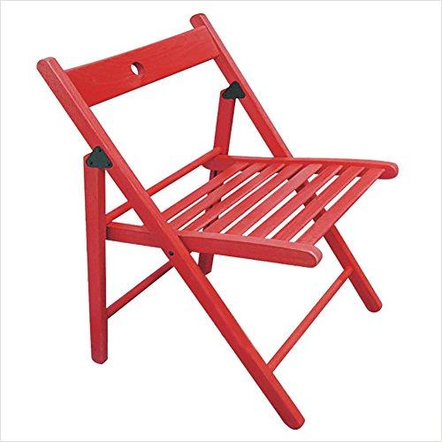 KSUNGB Klappbarer Stuhl aus Holz Buche Ergonomie Schemel Wohnzimmer Essensstuhl Bürostuhl...