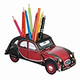 "Werkhaus - Stiftebox Citroen ""2CV Ente Charleston"" Rot/Schwarz (WE2046)"