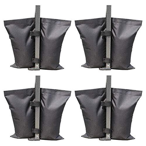 Feste Sandsack, Oxford Stoff Sandsack Anker Kit Pavillon Zelt Bein Gewicht Tasche für Pop-up-Baldachin Zelt Gewicht Füße Tasche(Schwarz, 4er Pack) -