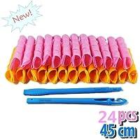 Shentian 24pz rulos suaves y flexibles para rizar el cabello y crear bucles (45 cm)