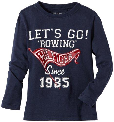 Tommy Hilfiger Jungen Langarmshirt LET'S GO CN TEE Long Sleeve/E557115722, Gr. 92 (2), Schwarz (002 BLACK IRIS-PT) (Jeans-jungen-shirt)