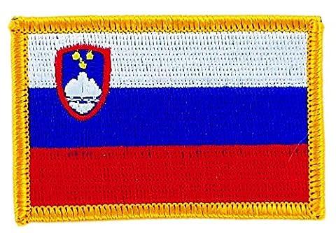 Patch écusson brodé drapeau slovenie slovene thermocollant insigne backpack