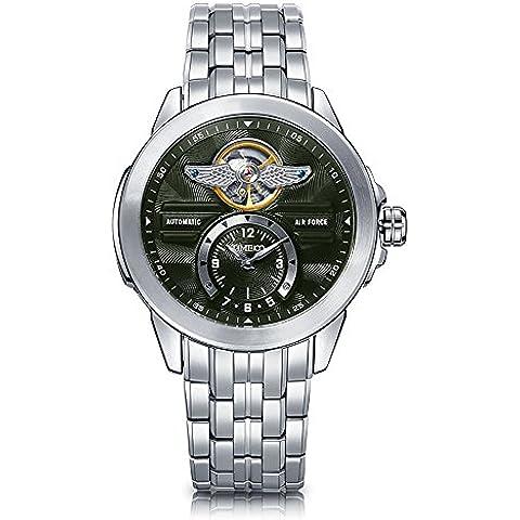 Time100 Orologio Scheletro Display dual-time in Acciaio Analogico Uomo#W60049G.02A