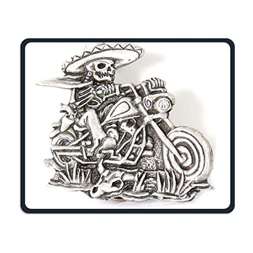 Preisvergleich Produktbild Pirate Skull Riding A Motorcycle Office Office and Gaming Mouse Pad Premium Waterproof Mouse Mat 22 * 18CM(8.7 * 7.1 Inch)
