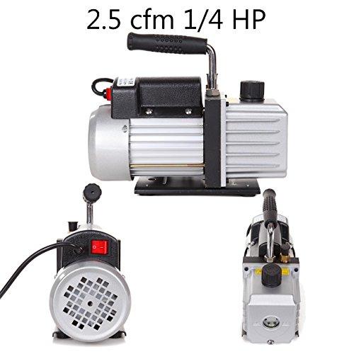 Preisvergleich Produktbild Ridgeyard Vakuumpumpe Unterdruckpumpe 1 / 4HP 50Hz 2.5CFM einstufige Dreh Refrigeration Vakuumpumpe schnelle Lieferung