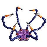 Gazechimp Strange 6-Arm USB Lötset Lötstation Fein Lötkolben DIY Schweißhelfer mit Lüfter für RC Drone Zubehör