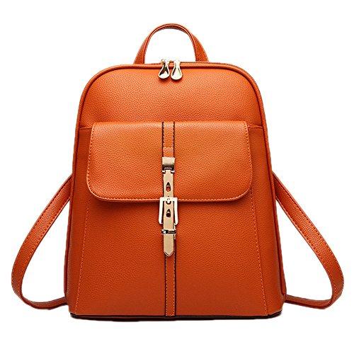 DELEY Korea Style Damen Tote Handtasche Schulter Tasche Mädchen Schule Rucksack Schultertasche Braun