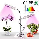 Relassy 45W Lampe pour Plante, 88 LED Lampe de Croissance Double tête LED Grow Light Spectre Complet Eclairage pour Les Plantes d'intérieur (M-45)