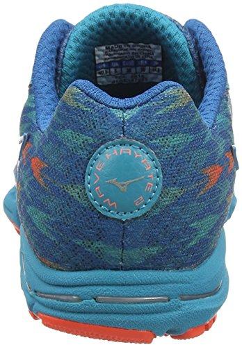 Mizuno Wave Hayate 2, Scarpe da Corsa Donna Turchese (Turquoise (Capri Breeze/Fiery Coral/Blue Sapphire))