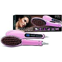 ID Italian Design | Cepillo Alisador Eléctrico para el Pelo de Color Rosa - 50W
