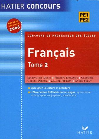 Concours de professeur des école, tome 2 : Français