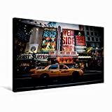 Premium Textil-Leinwand 75 cm x 50 cm quer New York Time Square | Wandbild, Bild auf Keilrahmen, Fertigbild auf echter Leinwand, Leinwanddruck (CALVENDO Orte)