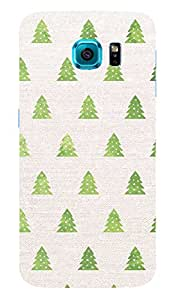 Back Cover for Samsung Galaxy S6 Edge Christmas Tree