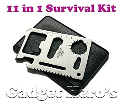 Gadget Hero's 11 in 1 Multi Function Credit Card Style Survival Tool Kit