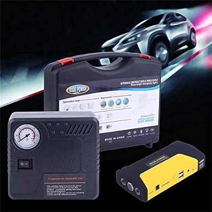 514DTPbWbPL. SS416  - Salte la batería del arrancador, batería del banco de potencia del reforzador del cargador de emergencia del cargador del coche del motor del automóvil del coche del motor del coche de 68800MAHUSB.