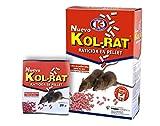 IMPEX EUROPA KOL-Rat Raticida en Pellet, Veneno con bromadiolona contra Ratones, Ratas y roedores.