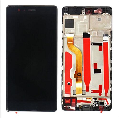 FOR JIUJINYI Huawei P9 Standard EVA-L09 Display im Komplettset LCD Ersatz Für Touchscreen Glas Reparatur (Schwarz + Rahmen)