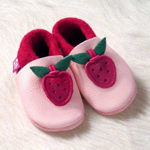 POLOLO-tapis de jeux et d'éveil chausson bébé-chaussures - Rose - Rosa/Rot, 24/25 EU Rouge - Rouge