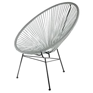 Retro sedia acapulco bahia grigio outdoo sedia originale for Sedia acapulco