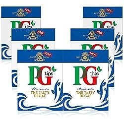 PG Tips 420 Decaffeinated Schwarzer Tee, 70x6 Teebeutel