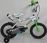 F.lli Schiano Extreme, Bicicletta Bambino, Bianco/Verde, L