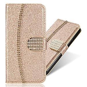 Bling Brieftasch Kartenfach Sparkle Glitzer Diamond für iPhone XR