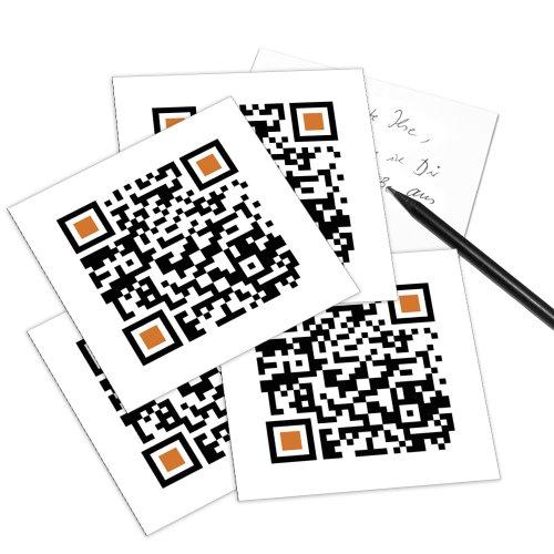 HAPPY BIRTHDAY - 5er Set QR Code-Postkarte - mit Smartphone einscannen und Grußbotschaft erhalten