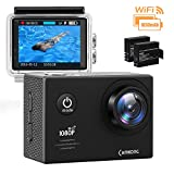 CAMKONG Action Kamera WIFI sport Action Camera 14MP Full HD Helmkamera...