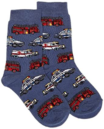 Country Kids Boy's Help is on the Way Calf Socks, 6-8 Years (Manufacturer Size:9-12), Blue (Denim)