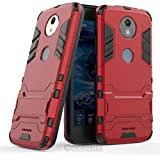 Motorola Moto C Plus Case, Cocomii Iron Man Armor NEW [Heavy Duty] Premium Tactical Grip Kickstand Shockproof Hard Bumper Shell [Military Defender] Full Body Dual Layer Rugged Cover (Red)