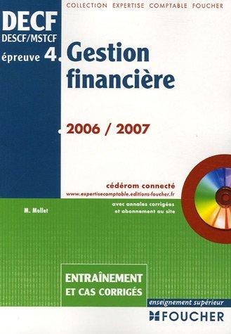 Gestion financière DECF/DESCF/MSTCF épreuve n° ...