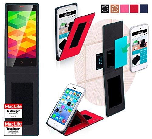 reboon Hülle für Ulefone BE X Tasche Cover Case Bumper | Rot | Testsieger