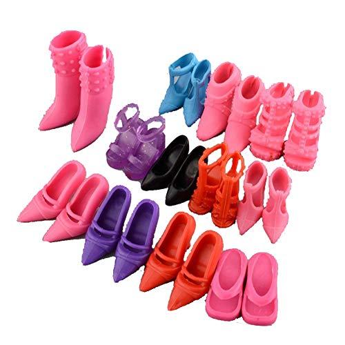 Romote 12 Paare kreative Kombination Barbie-Puppe SCHUHE - Schuhe Puppe