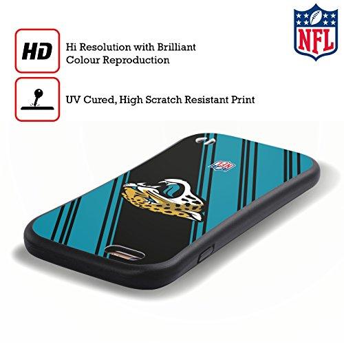 Ufficiale NFL Marmo 2017/18 Jacksonville Jaguars Case Ibrida per Apple iPhone 5 / 5s / SE Righe