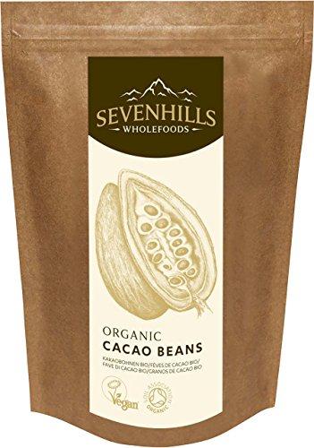 Sevenhills Wholefoods Roh Kakaobohnen Bio 500g