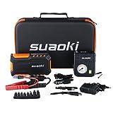 Suaoki Avviatore di Emergenza Auto 18000mAh 600A con Compressore Portatile, Arancia